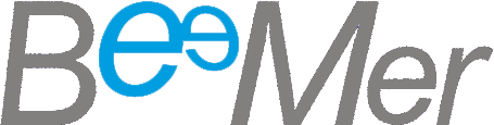 Logo Beemer vazado cinza