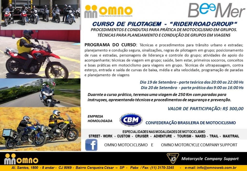 MD Curso de rider road group beemers - Setembro 2014