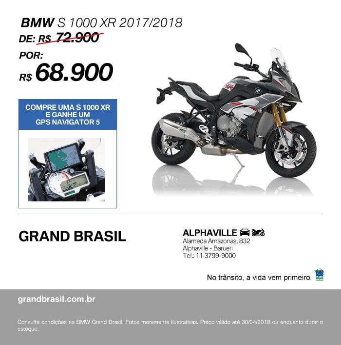 Sua nova BMW S 1000 XR com condições imperdíveis está na Grand Brasil.
