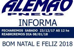 ALEMÃO PNEUS INFORMA!!!