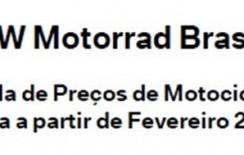 Tabelas de preços – BMW Motorrad  – Fevereiro/2015