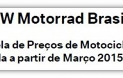 Tabelas de preços – BMW Motorrad – Março/2015