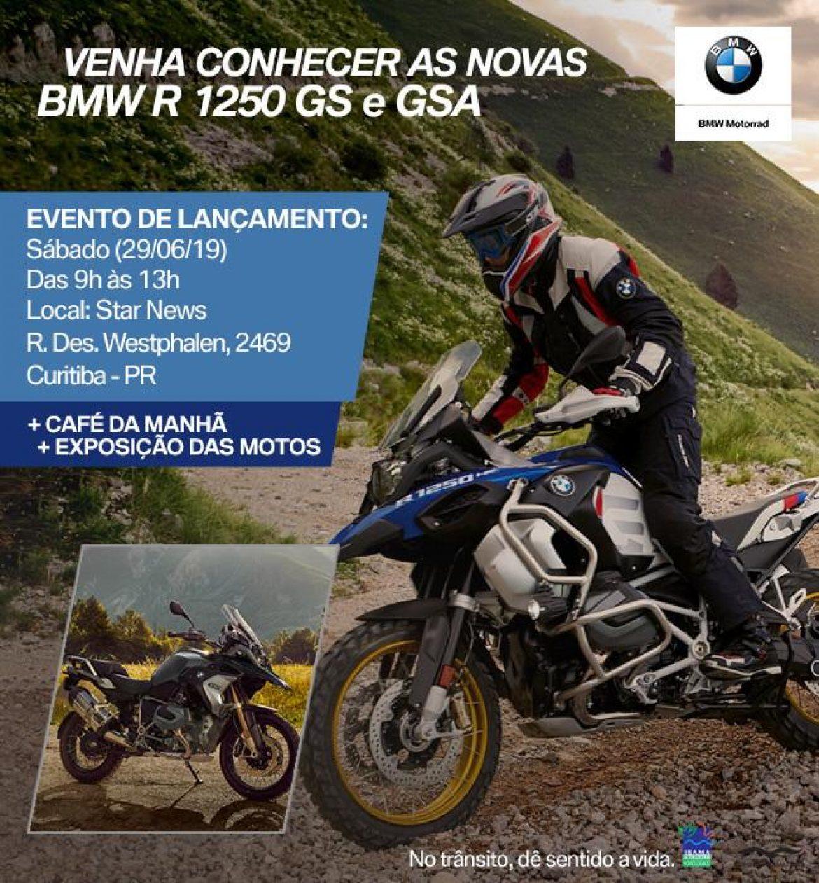 Star News convida você para o lançamento da nova BMW R 1250 GS/GSA