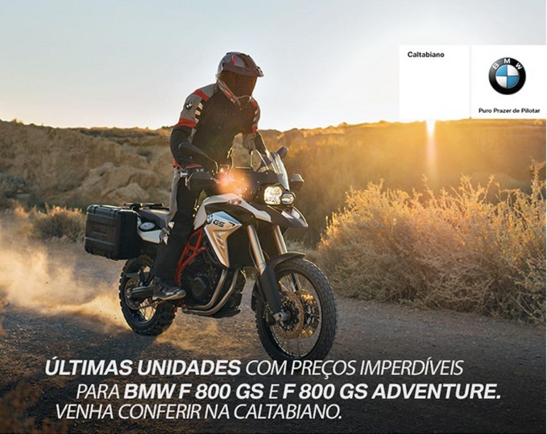 Linha BMW F 800 GS com preços imperdíveis na Caltabiano