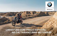 BMW F 800 com parcelas a partir de R$ 763 mensais na Caltabiano