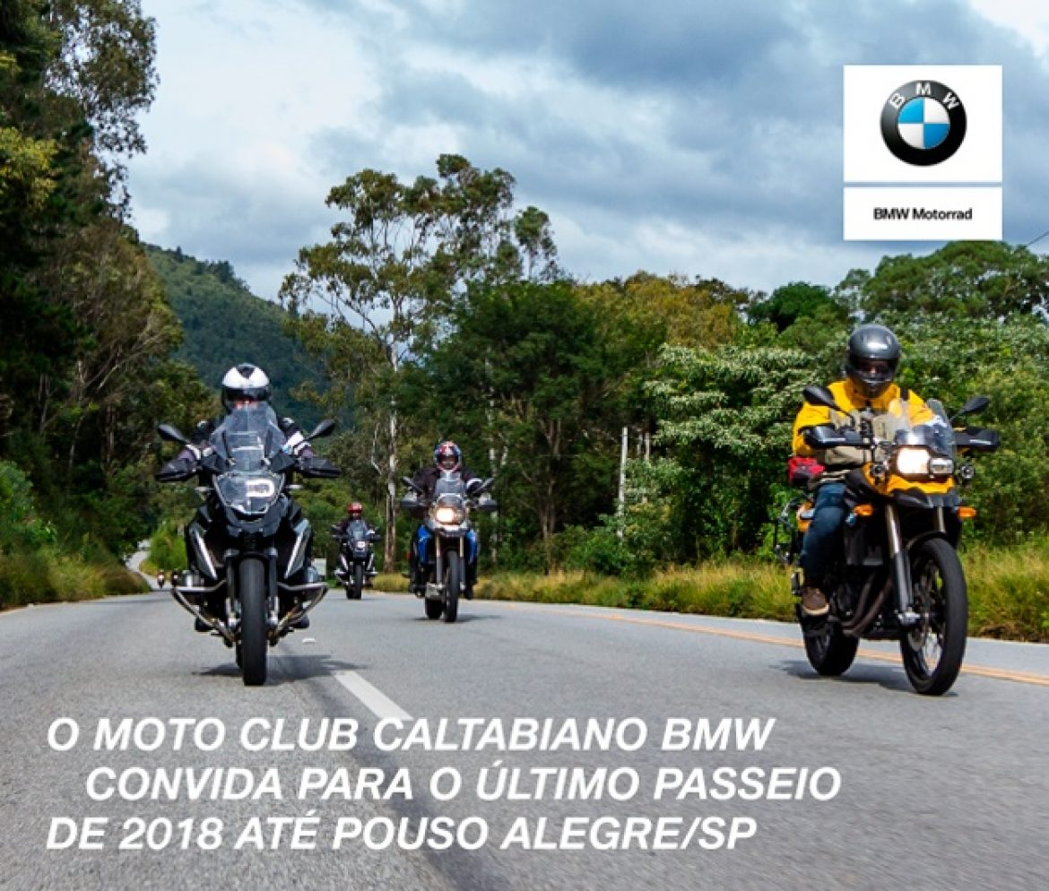 Participe do ÚLTIMO PASSEIO de 2018 do MOTO CLUB CALTABIANO BMW
