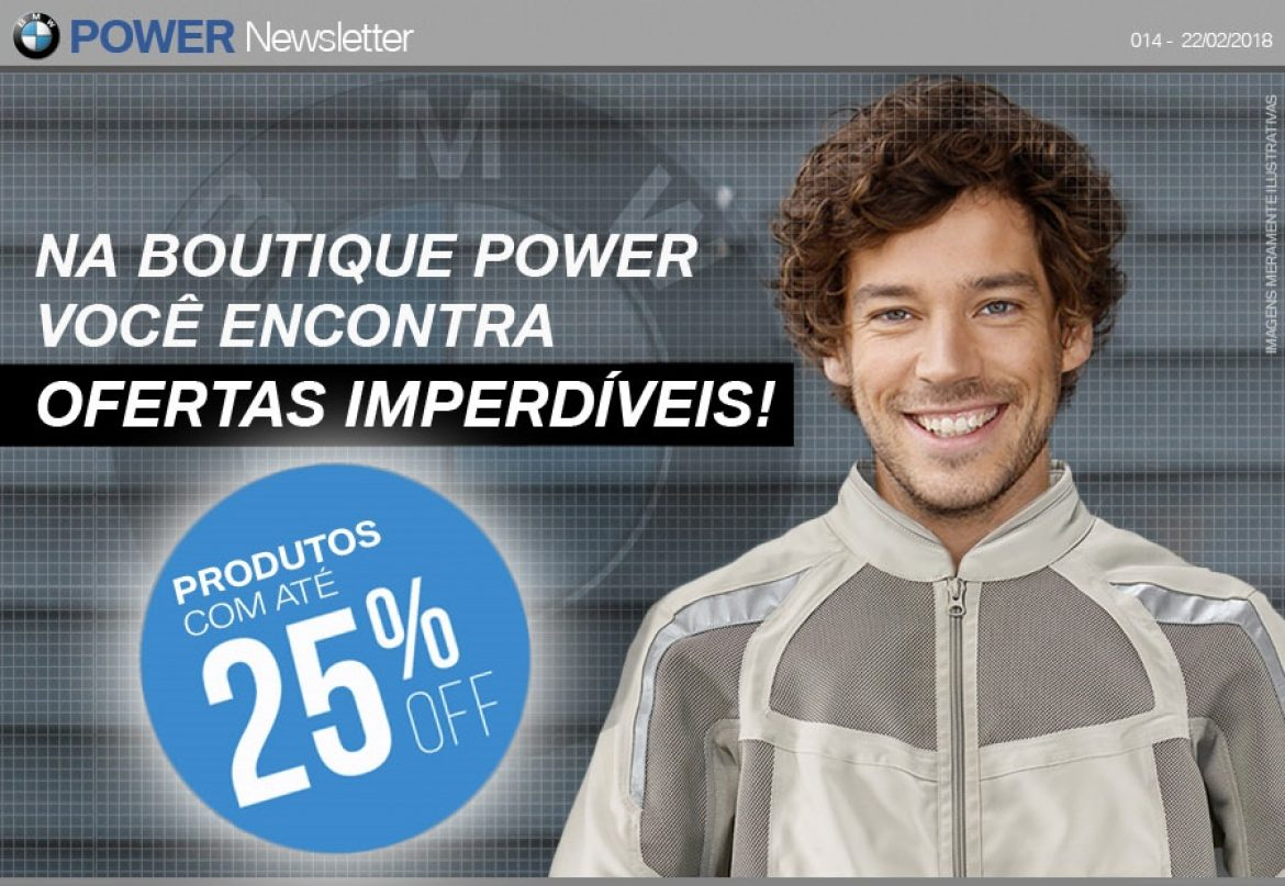 Super desconto na Boutique da POWER